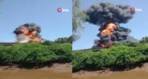 Brezilya'da akaryakıt yüklü tanker patladı: 1 ölü